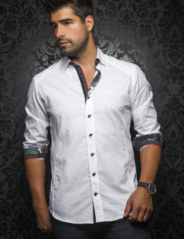 Aunoir Shirts long sleeves HERRERA white 0649